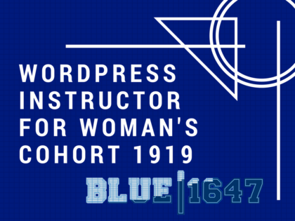 WordPress Instructor for Blue 1647 Chicago
